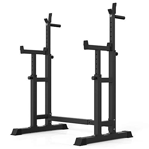 DAGCOT Barbell Rack Stat Soporte Ajustable Bench Press Rack Power Rack Soporte Elevación de peso, Rack Squat para entrenamiento Barbell Tapelera Mancuerna para entrenamiento muscular efectivo Multifun