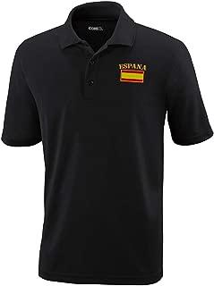 Performance Golf Tees Spain Espana Flag Embroidery Polyester