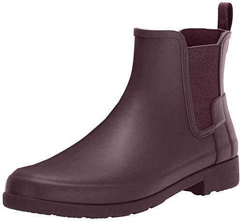 Womens Hunter Original Chelsea Refined Rubber Waterproof Ankle Rain Boot - Oxblood - 11