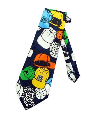 Tie mania casquette pour homme à visière plate necktie bleu marine-taille unique-neck tie