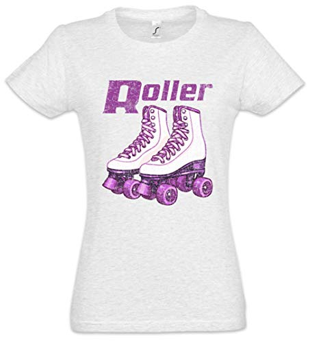 Urban Backwoods Roller Skates Roller Damen T-Shirt Grau Größe M