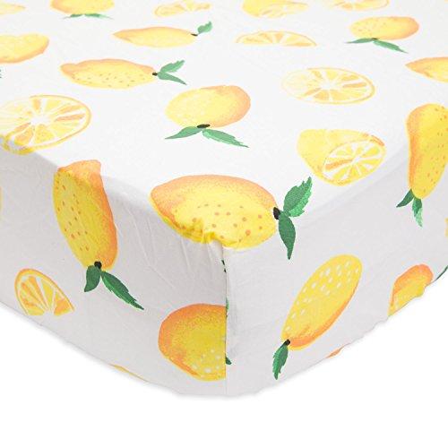 Little Unicorn Percale Crib Sheet - Lemon