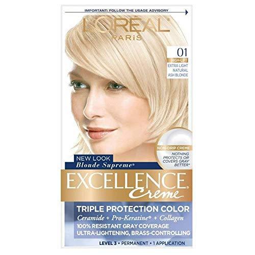 L'Oreal Paris Excellence Creme Haircolor, Extra Light Ash Blonde [01] (Cooler) 1 ea