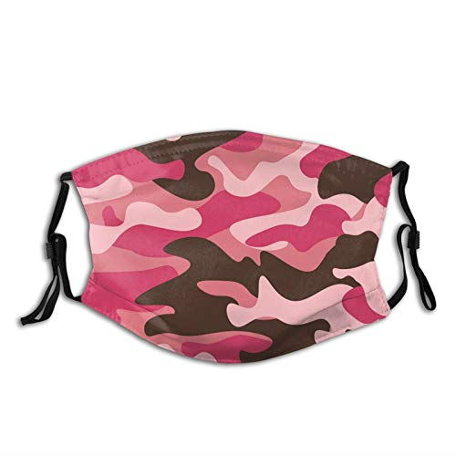 Camo Face Mask Camouflage Mask Balaclava Washable with 2Pcs Filters for Adult