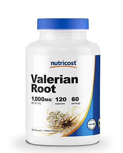 Nutricost Valerian Root Capsules (1000mg Per Serving) 120 Capsules - Veggie Caps, Gluten Free and Non-GMO
