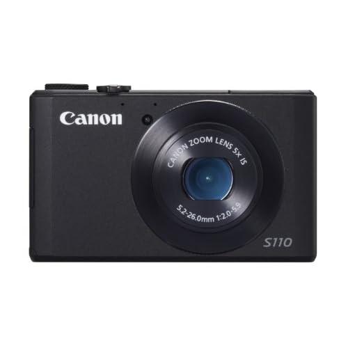 Canon PowerShot S110 Fotocamera Compatta Digitale, 12.1 Megapixel, Processore DIGIC 5, Nero