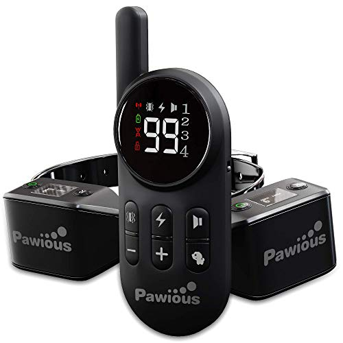 Pawious Dog Training Collar with Remote Bundle with 2 Additional Receivers RX9 - Set for 2 Dogs - Rechargeable and Waterproof Dog Shock E-Collar