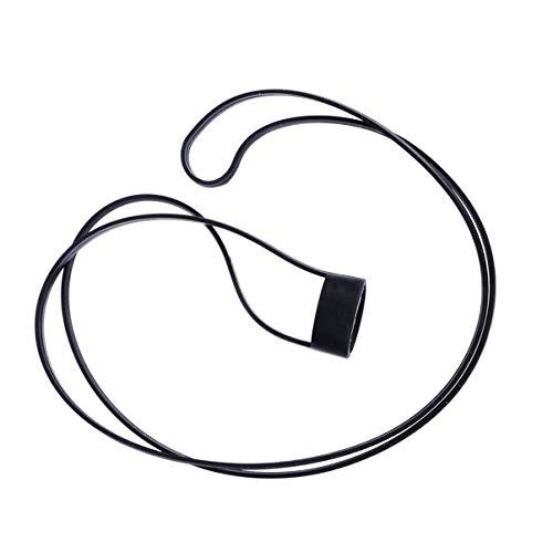 Garneck Elektronische Zigarette Lanyard Halskette Silikon Lanyard Hals Schlinge Hängen Seil Loch Ring (Schwarz)