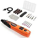 <span class='highlight'><span class='highlight'>GYMAX</span></span> Cordless Rotary Tool Set, 5000-15000rpm Adjustable Speed, USB Rechargeable Rotary Tool with 40 PCS Accessory Kit, Potable Mini Grinder for Craft Projects, DIY Creations, 3.6V