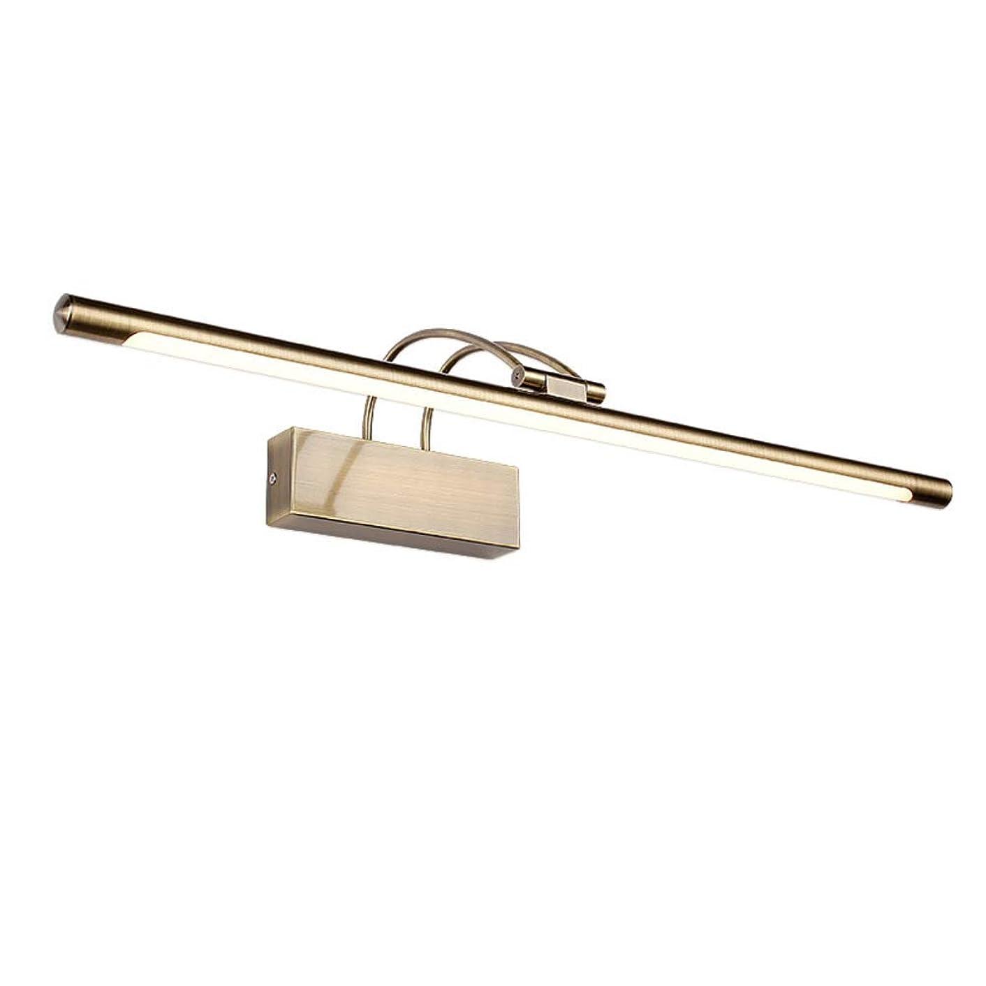 パスタお風呂を持っている相談する洗面 ミラーフロントライト, な ヴィンテージ ミラーランプ 角度調整可能 アンチ-意志 ウォールライト 化粧ライト ベッド ミラーキャビネットライト-ブロンズ 16w-l: 75cm