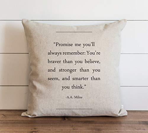 Book Collection A.A. Milne Pillow Cover Everyday Throw Pillow Gift Accent Pillow Cushion Cover Case Pillowcase with Hidden Zipper Closure For Sofa Home Decor 20 x 20 Inches