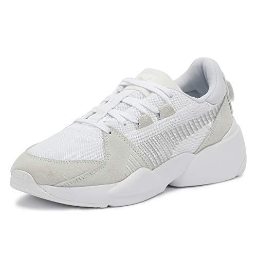 Puma Unisex-Erwachsene Zeta Suede Sneaker, Weiß White-Glacier Gray, 46 EU