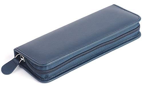 OMEO Taschenapotheke für 30 Gläser feines Rindleder blau