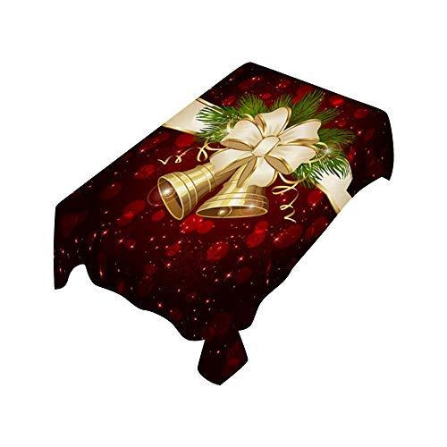Litale Weihnachten Tischdecke Rechteck Tabelle Abdeckung Urlaub Party Wohnkultur Tischläufer Tischtuch Tischwäsche Tischdekoration Tafeltuch Xmas Küche Wohnzimmer Desktop Deko Tischset