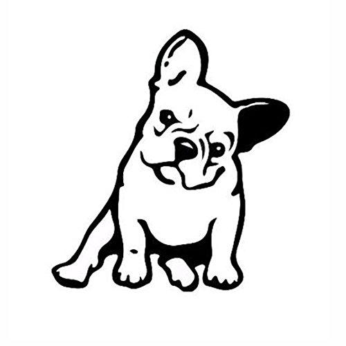 maxgoods French Bulldog Dog/Pet Vinyl Decal Car Window Wall Sticker Laptop Decal,5-Pack (Black)