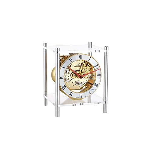 Hermle Orologio da Tavolo di Design Moderno in Pietra di Pino Svizzero con Movimento dello 4/4 Westminster di 8 Giorni