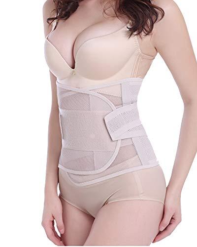Faja Postparto Cintura Moldeadora con Velcro para Mujer Y Maternidad Recuperación Postpartum Support Belt Desnudo XL