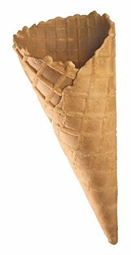Mini Eiswaffel - Süße Eiswaffel Mini Cono - Dänisch ohne Rand - 76mm lang - 31mm Durchmesser - Knuspriges Hörnchen für Fingerfood oder Eisbecher Dekoration - (60 Stück)