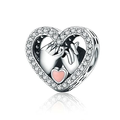 NINGAN Abalorios Charms Colgantes de Encanto amor corazon Cuentas Plata de Ley 925 con Compatible con Pulsera Pandora & Europeo, Charms para Mujer Niña S050
