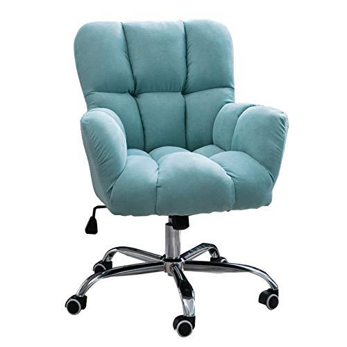 Amrai Pink Velvet Office Chair Ergonomischer Schreibtischstuhl Executive Chair Computerstuhl für Home Office Empfangsstuhl Verstellbarer und Verstellbarer 360 ° drehbarer Lehnstuhl, Home/Office-Möbel