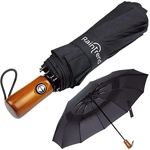 NEW Premium Large Windproof Double Canopy Umbrella for Rain - Travel...