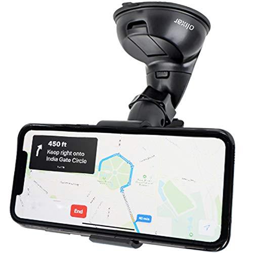 Olixar Dock and Go - Soporte para parabrisas de coche para teléfonos móviles como iPhone 7Plus, 7,Plus, 6 y 6S, Samsung Galaxy S7Edge, S7, Note 5, LG, Nexus, HTC, Moto y Oneplus