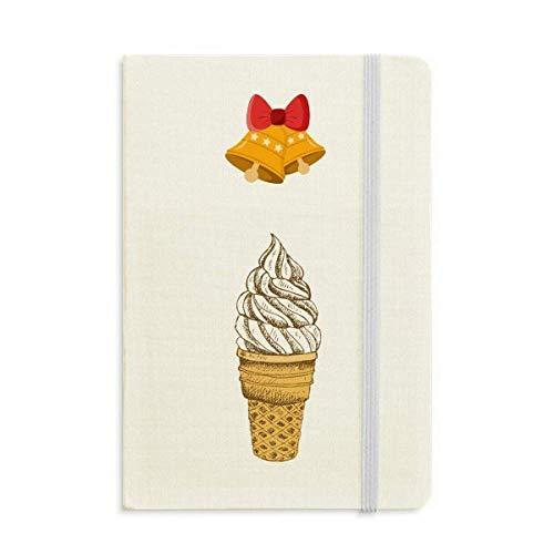 Crema Chocolate Huevo Conos Helado Cuaderno Diario mas Jingling Bell