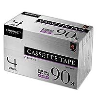 カセットテープ ノーマルポジション 90分 4巻