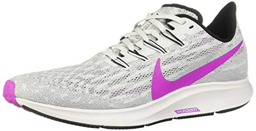 Nike Herren Air Zoom Pegasus 36 Laufschuhe, Pure Platinum Hyper Violet, 42.5 EU