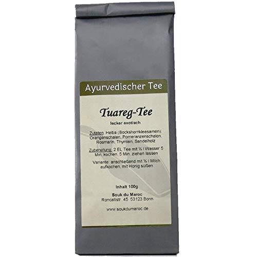 Tuareg Tee ayurvedische Kapha Mischung Tuaregtee ✔ Tea Chay Chai lose ✔ Teemischung ✔ ohne Zusatzstoffe, Aromastoffe & Konservierungsstoffe, 100g