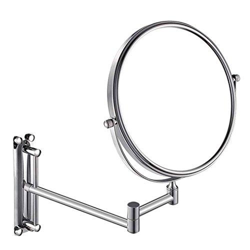 Miroirs Salle de Bains Cuivre Triple Agrandissement Double-Face Cosmétique Toilette De Pliage Pliant Télescopique Mur-Trou Poinçonnage 6/8\