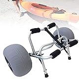LVLUOKJ Carrito de Aluminio para Kayak/Canoa, Ruedas Grandes de Globos, Correas Incluidas, 100 kg de Carga máxima