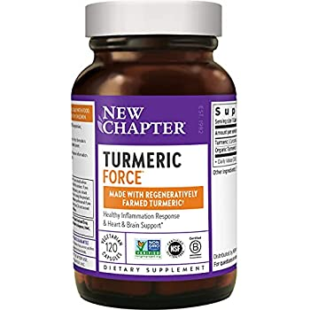 New Chapter Turmeric Supplement One Daily Joint Pain Relief + Supercritical Organic Turmeric Black Pepper Not Needed Non-GMO Gluten Free 120 Count  4 Month Supply