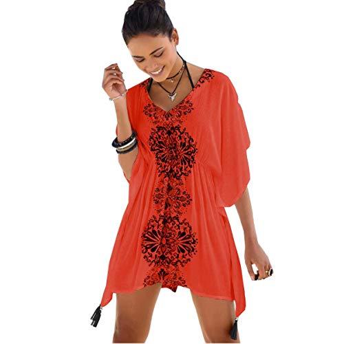 youlity women beach dress tassel