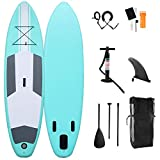 TTnideG 305X81x15cm Tablas De Paddle Surf Hinchables,Stand Up Paddle Board Remo Ajustable,Mochila PVC,Inflador,Tabla De Travesía Sup