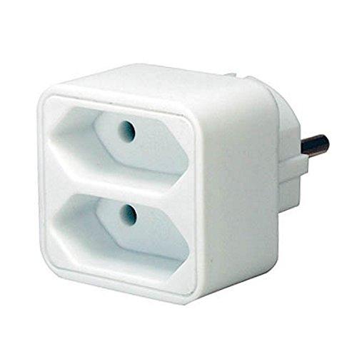 Brennenstuhl Adapterstecker, Kinderschutz, weiß, mit 2 oder 4 Euro-Steckdosen 2-Fach