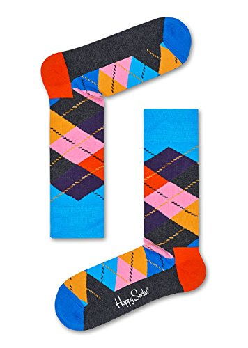 Happy Socks Unisex Socken Strümpfe Argyle ARY01, Farbe:Mehrfarbig, Größe:36-40, Artikel:ARY01-6005