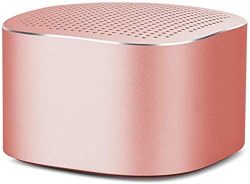 Mopoq Tragbare drahtlose Bluetooth Lautsprecher-Mobile Mini-Stereo-Karte Metallgehäuse Subwoofer freihändiger Anruf Lautsprecher Lautsprecher (Color : Rosa)