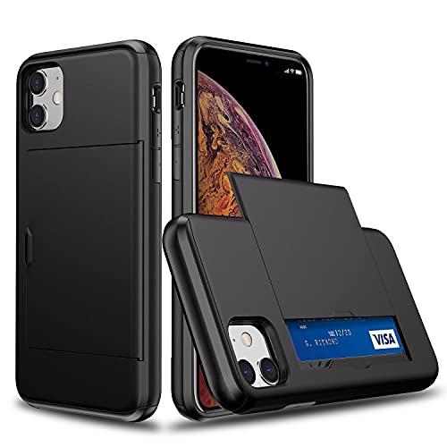Oihxse SGP Ranura Tarjeta Funda Compatible con Samsung Galaxy S6 Plus, con Diapositiva Tapa Oculto Ranura para Tarjeta, Dura PC y TPU Antichoque Double Protection Case
