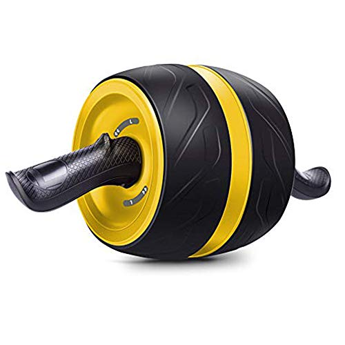 Ultra-Wide Ab Roller Wheel Mute Abdominal Wheel, Automatic Rebound Ab Cover Pro Roller Fitness Exercise Equipment for Core Workout, Yellow