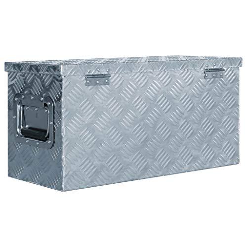 vidaXL Aluminiumkiste 61,5×26,5x30cm Alu Box Koffer Werkzeugbox Transportkiste - 3
