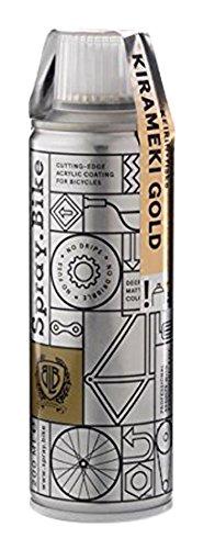 SPRAY.BIKE/200ml KEIRIN - FLAKE Gold 48501 【ラメ入りクリアコートタイプ/速乾性塗料/スプレータイプ】