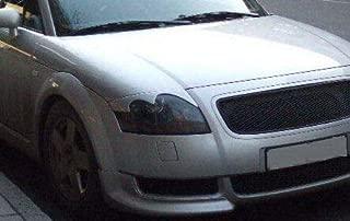 FidgetKute A++ 2Pcs Headlight Eyebrow Eyelid for Audi TT MK1 00-06 (Type 8N) Carbon Fiber
