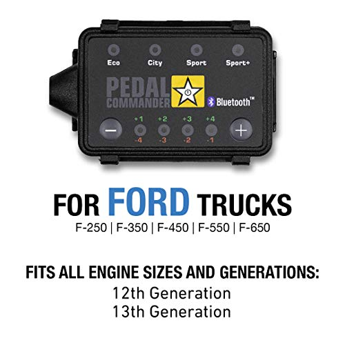 Pedal Commander Throttle Response Controller PC18 Bluetooth for Ford Super Duty F-250, F-350, F-450 (2011 and newer) Fits All Trim Levels; XL, XLT, King Ranch, Lariat, Limited, Platinum