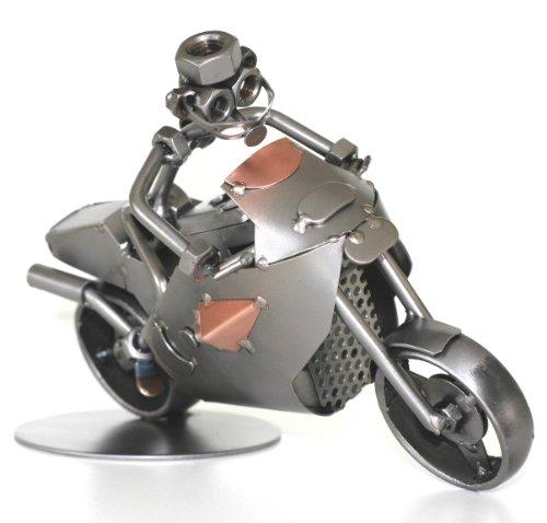 Schraubenmännchen Motorrad Rennmotorrad I Handarbeit I Geschenkidee I Metallfigur I Metallmännchen I Stahlfigur I Schraubenmännle
