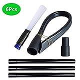 GIB cleaningtool Vacuum Cleaner Attachments Dryer Vent Cleaner Kit Universal 1-1/4 inch Vacuum Attachments 1-3/8 inch Vacuum Hose Adapter Vacuum Cleaner Accessories 6 Pcs