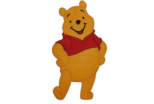 alles-meine.de GmbH XXL großes - Bügelbild - Winnie The Pooh - 12 cm * 20 cm - Aufnäher Applikation Patch Bär / Bügelflicken Puuh Aufbügelflicken - Flicken Teddy Teddybär Baby P..