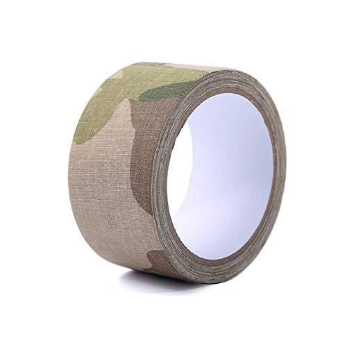 Pastall 5 cm × 10 m Camo Tape Selbstklebende Camouflage Bandage Wrap Kohäsive Baumwolle Medizinisches Tierarzt Tape für Outdoor Camping Militär Jagd Pistole, ACU digital camouflage