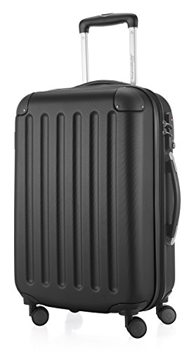 HAUPTSTADTKOFFER - Spree - Carry on luggage Suitcase Hardside Spinner Trolley Expandable 55 cm TSA, Black