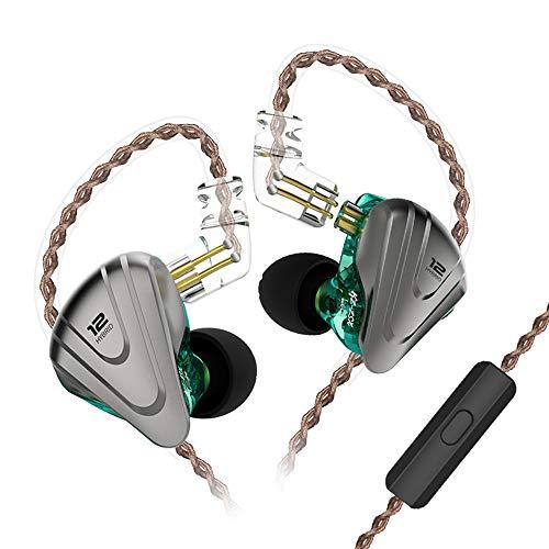 KZ ZSX IEM Auriculares de Diadema 5 Balanceados Armadura y 1 Dinámica de 6 Controladores 5BA 1DD Auriculares Hibridos(Púrpura no Mic)